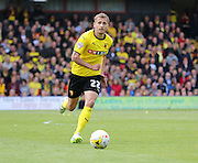 Watford Almen Abdi during the Sky Bet Championship match between Watford and Sheffield Wednesday at Vicarage Road, Watford, England on 2 May 2015. Photo by Phil Duncan.