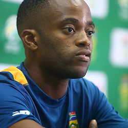 Durban South Africa - December 23, Themba Bavuma during the South African national cricket team press conference session and training session at Sahara Stadium Kingsmead, 23 December 2015. (Photo by Steve Haag) images for social media must have consent from Steve Haag