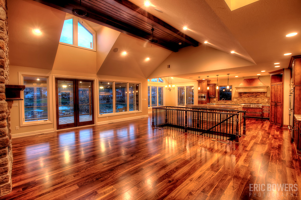 Interior of new custom built home in Lake Lotawana, Missouri.