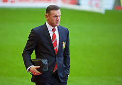 LIVERPOOL, ENGLAND - Sunday, January 17, 2016: Manchester United's captain Wayne Rooney arrives before the Premier League match at Anfield. (Pic by David Rawcliffe/Propaganda)