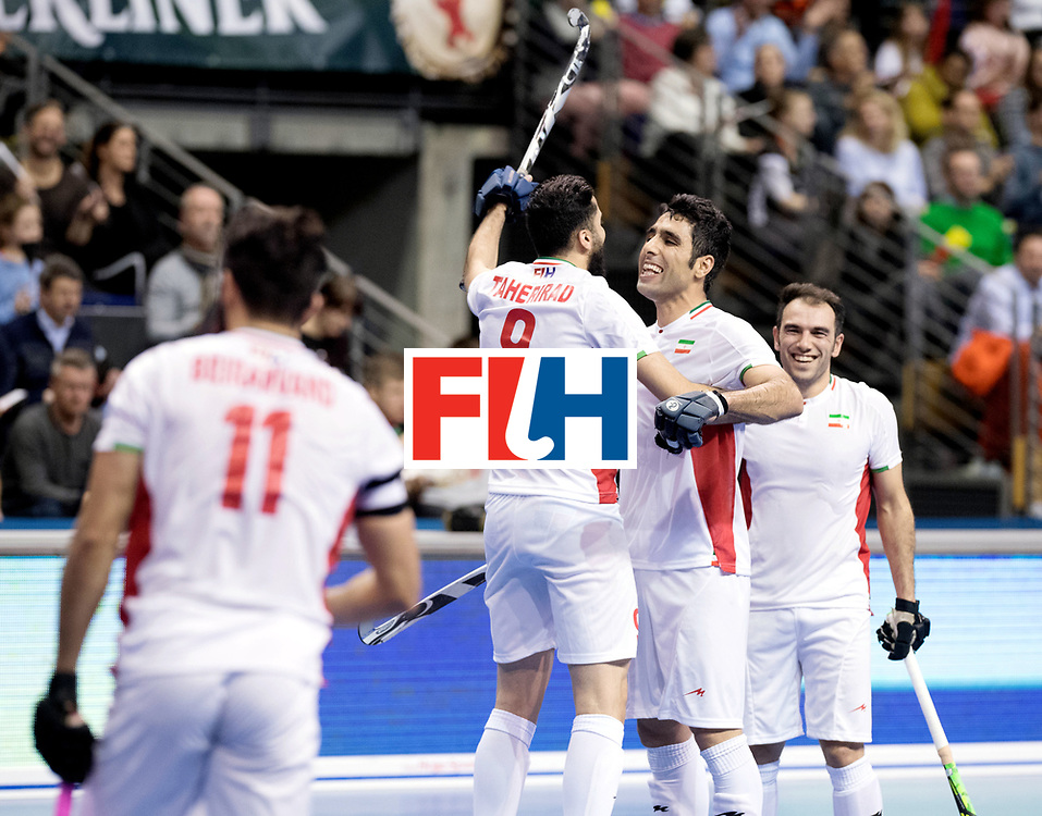 BERLIN - Indoor Hockey World Cup<br /> Bronze: Iran - Australia<br /> Iran won.<br /> foto: Iran celebrate.<br /> WORLDSPORTPICS COPYRIGHT FRANK UIJLENBROEK