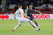 Presnel Kimpembe (PSG), Frederic GUILBERT (SM Caen) during the French Championship Ligue 1 football match between Paris Saint-Germain and SM Caen on May 20, 2017 at Parc des Princes stadium in Paris, France - Photo Stephane Allaman / ProSportsImages / DPPI