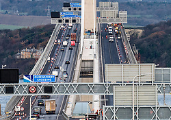 Southbound carriageway of new Queensferry Bridge is closed to allow emergency repairs to the carriageway. Southbound traffic from Fife is being diverted over the adjacent Forth Road Bridge which has been opened temporarily to traffic. Remedial snagging work to the Queensferry Bridge is expected to take 10 months.