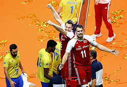 September 30, 2018 - Turin, Italy - Poland v Brazil - FIVP Men's World Championship Final.Michal Kubiak and Fabian Drzyzga of Poland celebrate at Pala Alpitour in Turin, Italy on September 30, 2018. (Credit Image: © Matteo Ciambelli/NurPhoto/ZUMA Press)