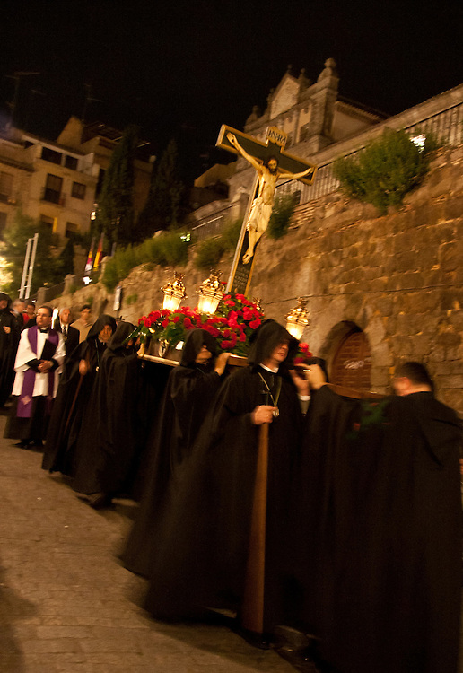Procession with paso, Toledo, Spain