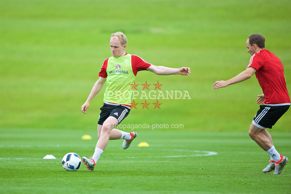 CARDIFF, WALES - Wednesday, June 1, 2016: Wales' Jonathan Williams during a training session at the Vale Resort Hotel ahead of the International Friendly match against Sweden. (Pic by David Rawcliffe/Propaganda)