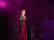 2018, Oktober 05. Theater aan de Schie, Schiedam. Perspresentatie musical Evita. Op de foto: Brigitte Heitzer