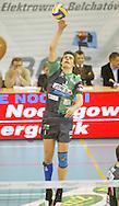 DANIEL PLINSKI.BOT SKRA BELCHATOW (ZOLTO-CZARNE) - KS JASTRZEBSKI WEGIEL JASTRZEBIE (ZIELONO-CZARNE).SIATKOWKA, PLS, SERIA A.23.12.2006. BELCHATOW..FOT. DARIUSZ HERMIERSZ / SPORT-FOTO / MEDIASPORT