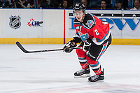 KELOWNA, CANADA - NOVEMBER 30:  Jesse Lees #2 of the Kelowna Rockets skates against the Kamloops Blazerson November 30, 2013 at Prospera Place in Kelowna, British Columbia, Canada.   (Photo by Marissa Baecker/Shoot the Breeze)  ***  Local Caption  ***