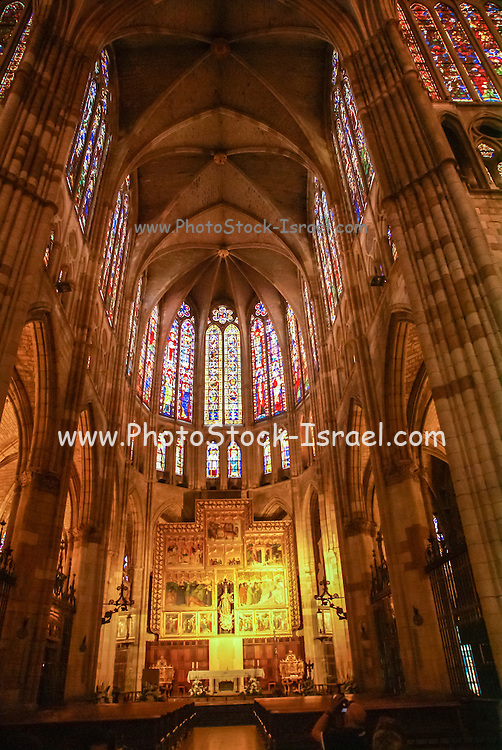 León, Spain León's gothic Cathedral, also called The House of Light or the Pulchra Leonina Interior