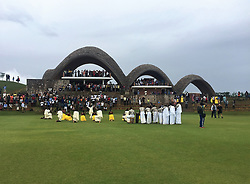 "BEST QUALITY AVAILABLE Dancers and musicians entertain the crowd during the official opening of a new cricket stadium in Kigali, Rwanda, which has been dubbed the ""Lord's of East Africa""."