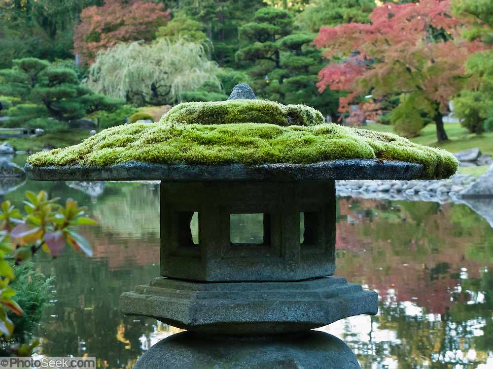 The Seattle Japanese Garden (completed 1960), Washington, is located in the southwest corner of the Washington Park Arboretum along Lake Washington Boulevard East.