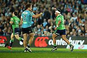 Ash Dixon Celebrates, NSW Waratahs v Otago Highlanders Semi Final. Sport Rugby Union Super Rugby Domestic Provincial. Allianz Stadium SFS. 27 June 2015. Photo by Paul Seiser/SPA Images