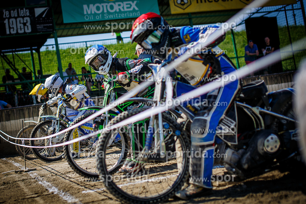 Rider just before the start during Slovenian national Championship in Speedway, Ljubljana, Stadion Ilirija, on 2nd of July, Slovenia Photo by Grega Valancic / Sportida