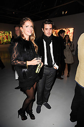 Eugenie Niarchos and her boyfriend Marc-Alexandre Saba  at a private view of Nicolas Pol's paintings entitled 'Mother of Pouacrus' held at The Dairy, Wakefield Street, London WC1 on 14th October 2010.