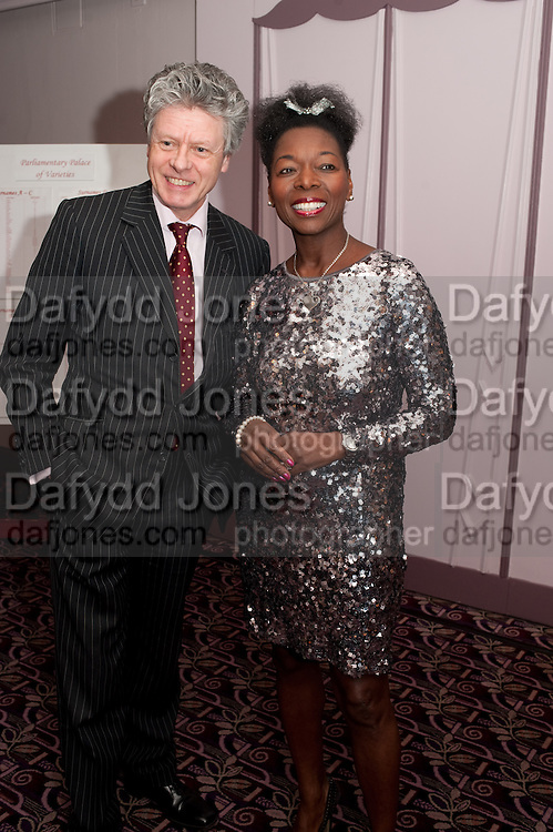 KEITH TAYLOR; BARONESS FLOELLA BENJAMIN,  House of Lords and House of Commons Parliamentary Palace of Varieties in aid of Macmillan Cancer Support. <br /> Park Lane Hotel, Piccadilly, London, 7 March 2012.
