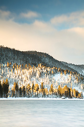 """Donner Lake Morning 21"" - Photograph of Donner Lake shot in the morning, right after a snow storm."