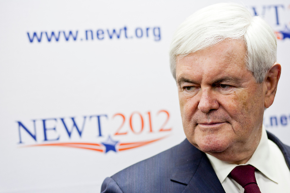 Republican presidential candidate Newt Gingrich at the opening of a new campaign office on Saturday, December 10, 2011 in Urbandale, IA.