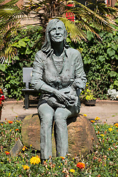 Statue of Linda McCartney in The Lady Linda McCartney Memorial Garden in Campbeltown on Kintyre peninsula , Argyll and Bute in Scotland, United kingdom