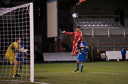 BRISTOL, ENGLAND - Thursday, January 15, 2009: Liverpool's Nathan Eccleston sees his header go narrowly wide of the Bristol Rovers post during the FA Youth Cup match at the Memorial Stadium. (Mandatory credit: David Rawcliffe/Propaganda)