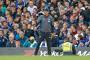 Liverpool manager Jurgen Klopp during the Premier League match between Chelsea and Liverpool at Stamford Bridge, London, England on 22 September 2019.