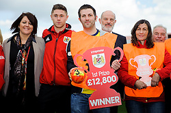 The Bristol City Community foundation prize draw is made on the pitch during the half time break - Photo mandatory by-line: Rogan Thomson/JMP - Tel: Mobile: 07966 386802 27/04/2013 - SPORT - FOOTBALL - Ashton Gate - Bristol. Bristol City v Huddersfield Town - npower Football League Championship.