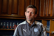 Dundee manager Neil McCann speaks to the press ahead of the  visit to Ross County in the SPFL Premiership; Dens Park, Dundee<br /> <br /> <br />  - &copy; David Young - www.davidyoungphoto.co.uk - email: davidyoungphoto@gmail.com