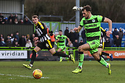 Forest Green Rovers Christian Doidge(9) runs forward during the EFL Sky Bet League 2 match between Forest Green Rovers and Notts County at the New Lawn, Forest Green, United Kingdom on 9 February 2019.