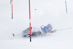 21.12.2010, Stade Emile Allais, Courchevel, FRA, FIS World Cup Ski Alpin, Ladies, Slalom, im Bild Esther Good (SUI) crashes out competing in the FIS Alpine skiing World Cup ladies slalom race in Courchevel 1850, France. EXPA Pictures © 2010, PhotoCredit: EXPA/ M. Gunn