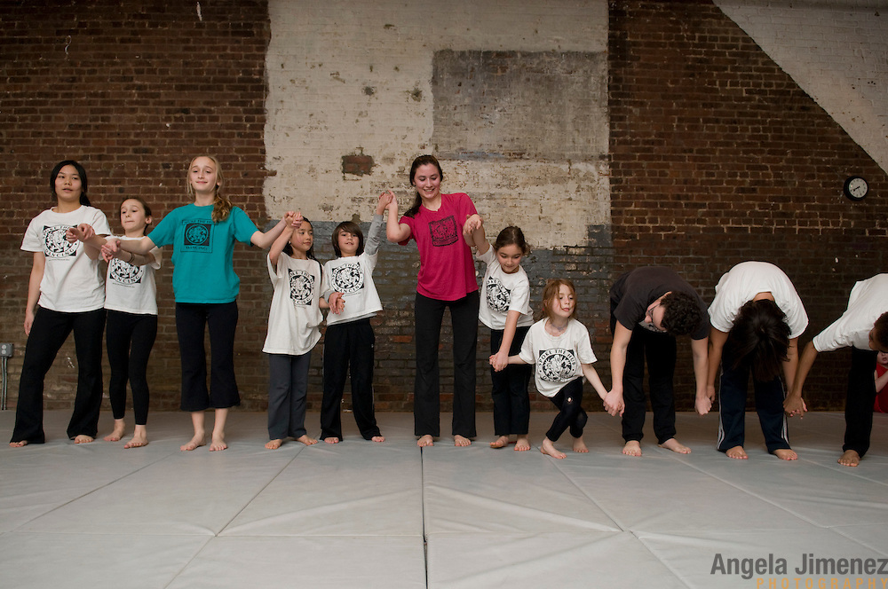 The Magma junior company and other guest performers perform at the Magma Mix event at the LAVA studio in Brooklyn, New York on March 13, 2009...Photo by Angela Jimenez