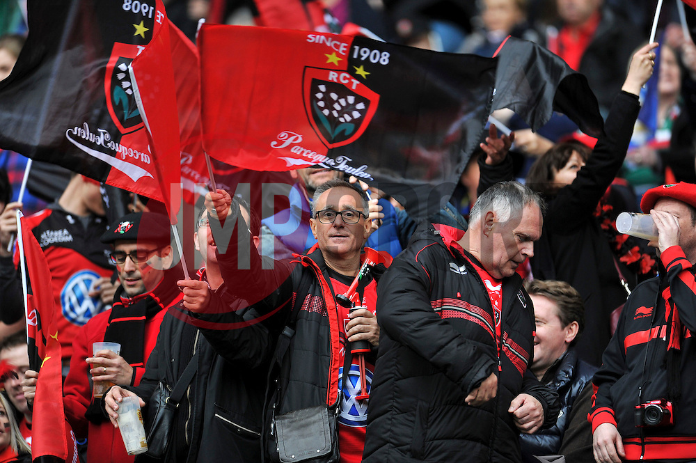 A general view of a Toulon supporter - Photo mandatory by-line: Patrick Khachfe/JMP - Mobile: 07966 386802 02/05/2015 - SPORT - RUGBY UNION - London - Twickenham Stadium - ASM Clermont Auvergne v RC Toulon - European Rugby Champions Cup Final