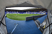 St Andrews viewed from the players tunnel  during the EFL Sky Bet Championship match between Birmingham City and Aston Villa at St Andrews, Birmingham, England on 10 March 2019.