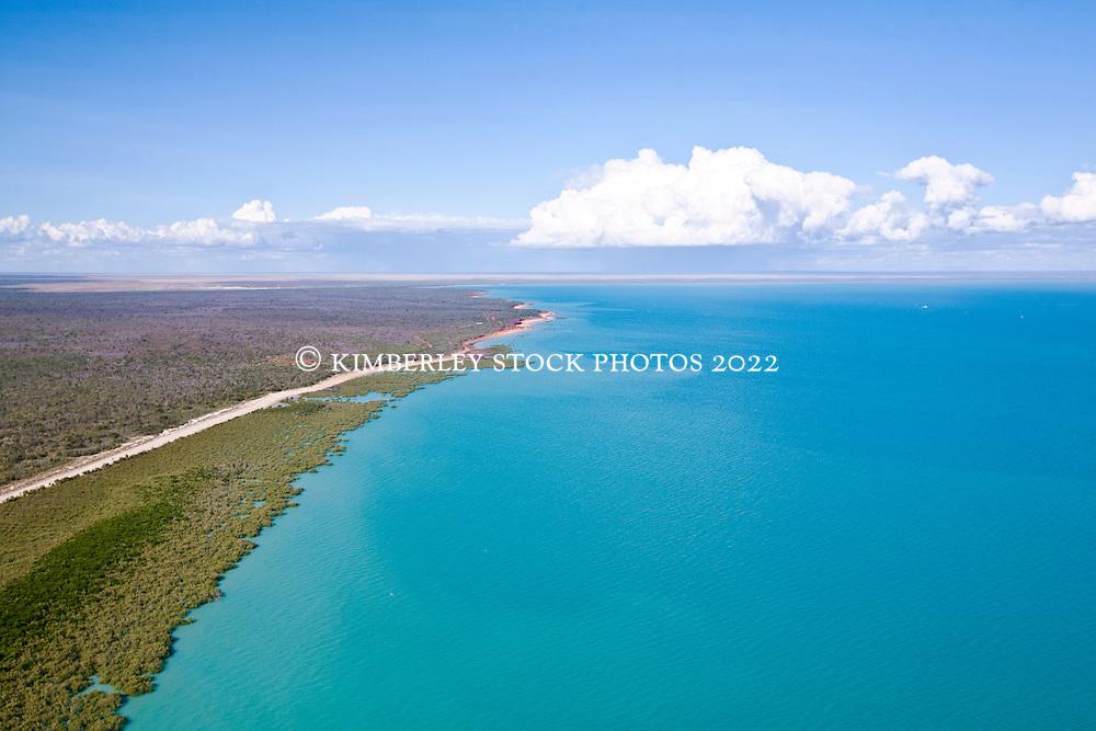 Aerial view of Roebuck Bay