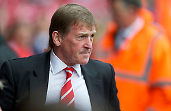LIVERPOOL, ENGLAND - Saturday, April 23, 2011: Liverpool's manager Kenny Dalglish MBE before his side's Premiership match against Birmingham City at Anfield. (Photo by David Rawcliffe/Propaganda)
