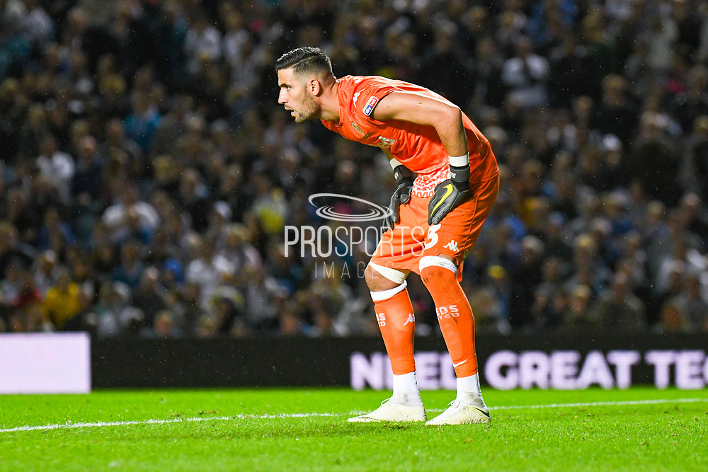 Leeds United goalkeeper Francisco Casilla (13) in action during the EFL Sky Bet Championship match between Leeds United and Brentford at Elland Road, Leeds, England on 21 August 2019.