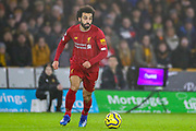 Liverpool forward Mohamed Salah (11) during the Premier League match between Wolverhampton Wanderers and Liverpool at Molineux, Wolverhampton, England on 23 January 2020.