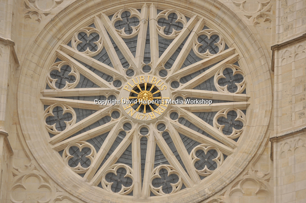 Orleans cathedral rose window