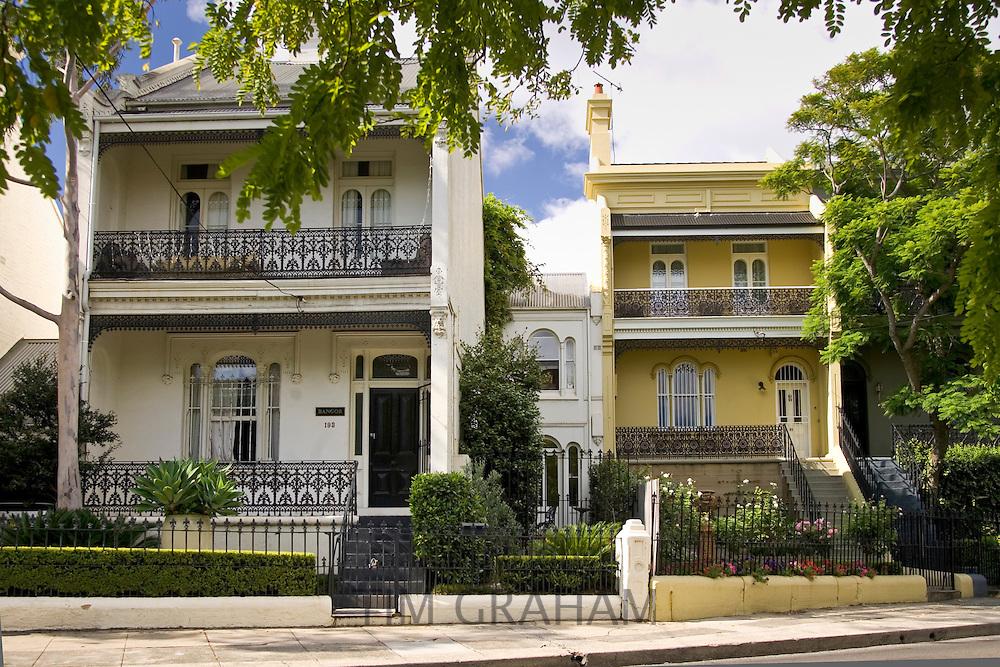 Sydney town houses, Paddington, Australia