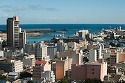 A view over the city and harbour of Port Louis taken from Fort Adelaide, also known as La Citadelle.