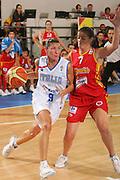 DESCRIZIONE : Ortona Italy Italia Eurobasket Women 2007 Italia Spagna Italy Spain <br /> GIOCATORE : Francesca Modica <br /> SQUADRA : Nazionale Italia Donne Femminile EVENTO : Eurobasket Women 2007 Campionati Europei Donne 2007 <br /> GARA : Italia Spagna Italy Spain <br /> DATA : 29/09/2007 <br /> CATEGORIA : Penetrazione <br /> SPORT : Pallacanestro <br /> AUTORE : Agenzia Ciamillo-Castoria/S.Silvestri Galleria : Eurobasket Women 2007 <br /> Fotonotizia : Ortona Italy Italia Eurobasket Women 2007 Italia Spagna Italy Spain <br /> Predefinita :