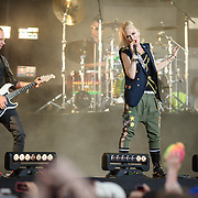 WASHINGTON, D.C. - April 18th, 2015 - Tom Dumont, Adrian Young, Gwen Stefani and Gabe McNair of No Doubt performs at the Global Citizen 2015 Earth Day concert on the National Mall in Washington, D.C. (Photo by Kyle Gustafson / For The Washington Post)