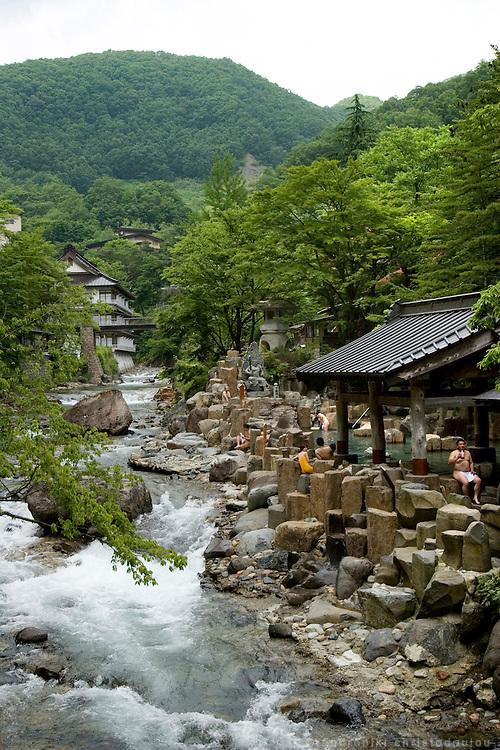 The river Takaragawa passing through the Takaragawa onsen (hot spring) in Gunma prefecture north of Tokyo - JAPAN 8 July 2006