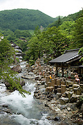 The river Takaragawa passing through the Takaragawa onsen (hot spring) in Gunma prefecture north of Tokyo - JAPAN 8 July 2006