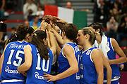 LILLA, 24/06/2013<br /> BASKET, EUROBASKET WOMEN 2013<br /> ITALIA - MONTENEGRO<br /> NELLA FOTO: TEAM ITALIA<br /> FOTO CIAMILLO
