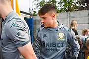 Leeds United midfielder Jamie Shackleton (46) arrives at the ground during the Pre-Season Friendly match between Guiseley  and Leeds United at Nethermoor Park, Guiseley, United Kingdom on 11 July 2019.