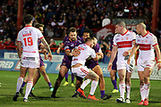 Hull KR attack during the Betfred Super League match between Hull Kingston Rovers and Huddersfield Giants at the Hull College Craven Park  Stadium, Hull, United Kingdom on 21 February 2020.