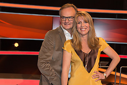 """19.02.2016, Huerth, GER, Settermin, Paarduell, im Bild Frank Plasberg und seine Ehefrau und Bestseller-Autorin Anne Gesthuysen // during a photocall for the German TV-Show """"Paarduell"""" in Huerth, Germany on 2016/02/19. EXPA Pictures © 2016, PhotoCredit: EXPA/ Eibner-Pressefoto/ Schüler<br /> <br /> *****ATTENTION - OUT of GER*****"""