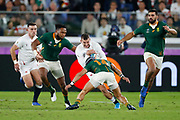 Jonny May of England and Lukhanyo Am, Cheslin Kolbe of South Africa during the World Cup Japan 2019, Final rugby union match between England and South Africa on November 2, 2019 at International Stadium Yokohama in Yokohama, Japan - Photo Yuya Nagase / Photo Kishimoto / ProSportsImages / DPPI