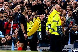 The referee checks and awards a goal to Tottenham Hotspur after using VAR - Mandatory by-line: Robbie Stephenson/JMP - 17/04/2019 - FOOTBALL - Etihad Stadium - Manchester, England - Manchester City v Tottenham Hotspur - UEFA Champions League Quarter Final 2nd Leg