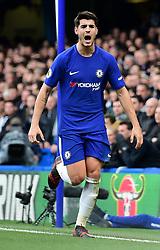 Alvaro Morata of Chelsea celebrates.  - Mandatory by-line: Alex James/JMP - 02/12/2017 - FOOTBALL - Stamford Bridge - London, England - Chelsea v Newcastle United - Premier League